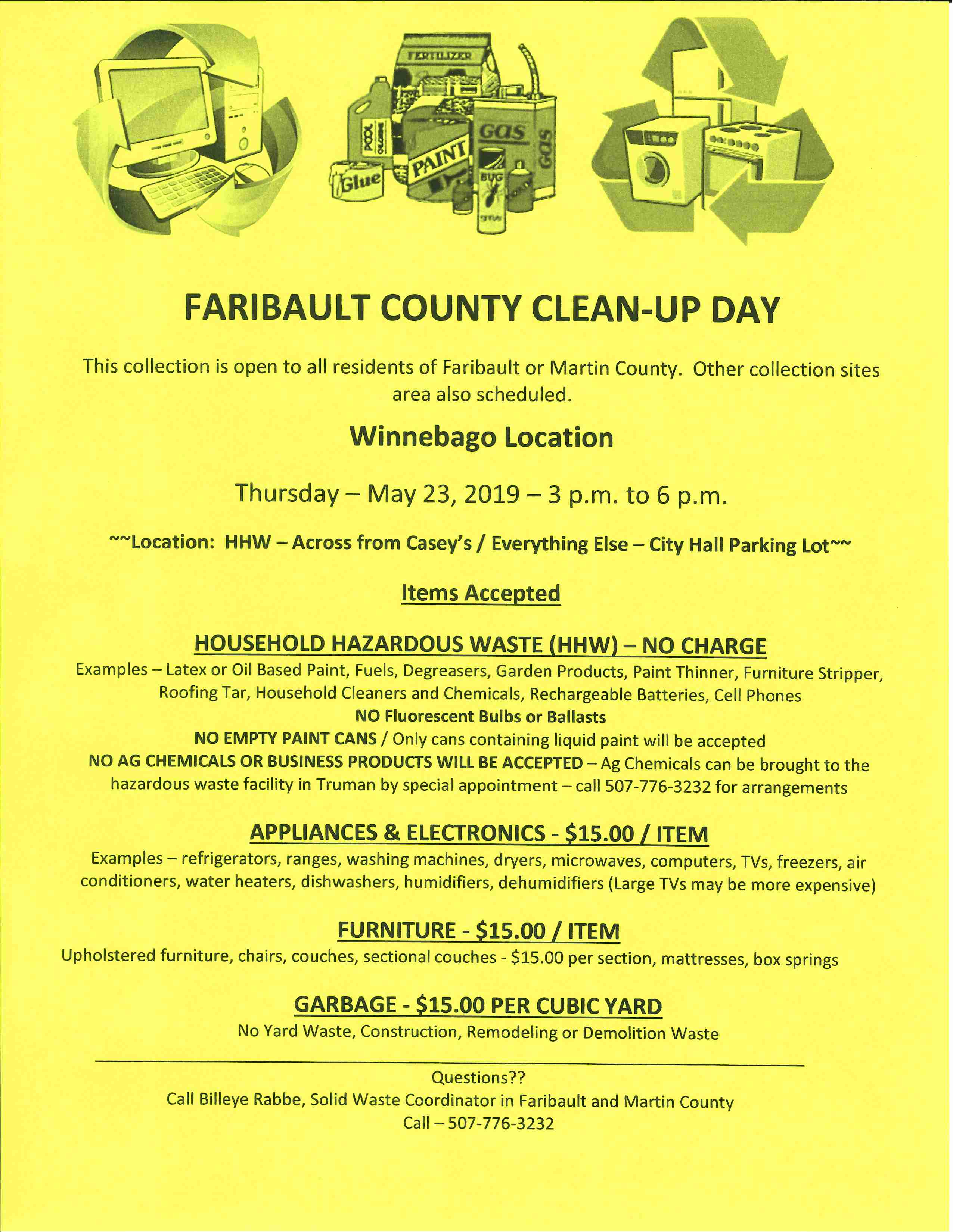 Winneabgo Clean-Up Day